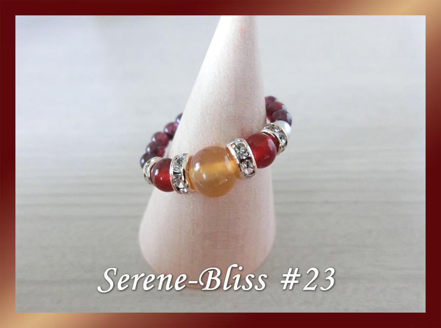 子宝祈願・生理不順・不妊治療のお守り 「血液の石」で、生命エネルギーを子宮に集める|パワーストーン・リング #23